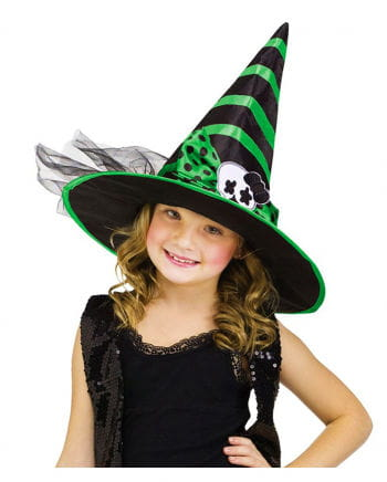Kids witch hat black-green