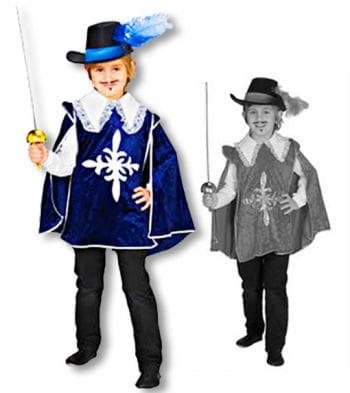 Kinder Musketier Umhang Samtoptik 104 German child size 104