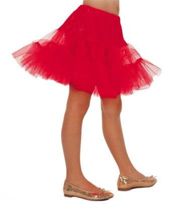 Children petticoat red