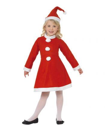 Kleines Santa Girl Kinderkostüm