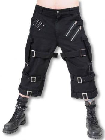 Knielange Hose mit Schnallen und Riemen
