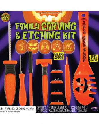Halloween Pumpkin Carving Set 20 Pcs.