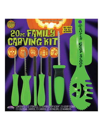 20 pcs. Pumpkin Carving Set with stencils