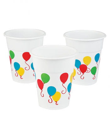 25 Kunststoffbecher mit Ballon-Motiv 0,5l