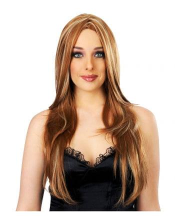 Longhair Streaked Wig Caramel