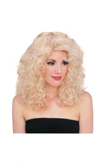 Lockenperücke blond Deluxe