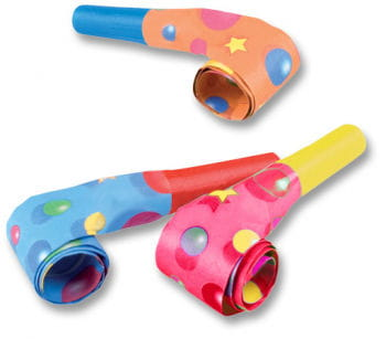 Party Blowouts Coloured 50 PCS