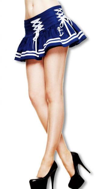 Rockabilly Sailor Mini Skirt Blue