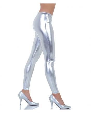 Metallic Leggings silber