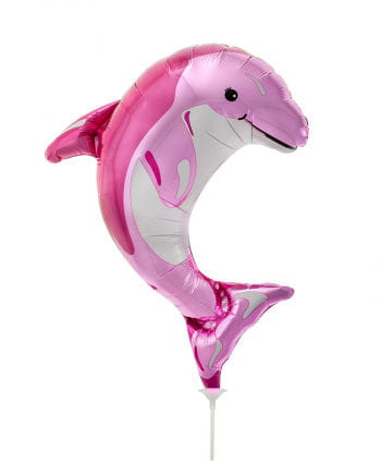 Mini foil balloon pink dolphin