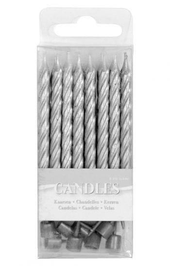 Mini candles silver
