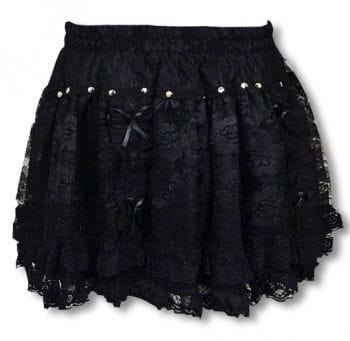 Mini Lace Skirt Black