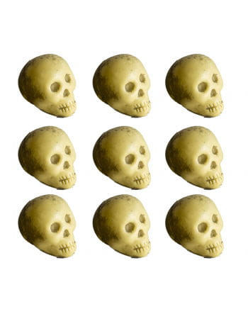 Mini skulls on the net