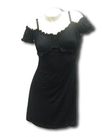 Schwarzes mini Sommerkleid Gr Small