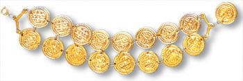 Münzen Armband gold