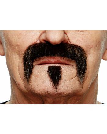 Musketier Bart braun-schwarz