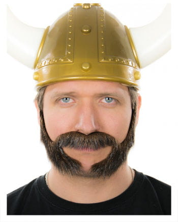 Mutton chops beard Brown-Black Heather