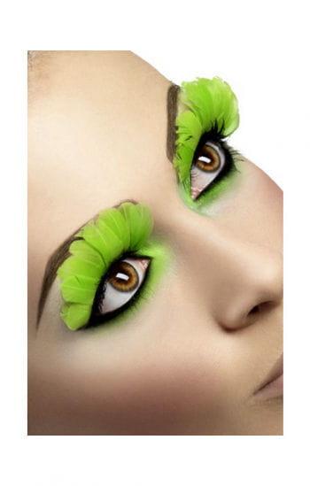 Feather Eyelashes Neon Green
