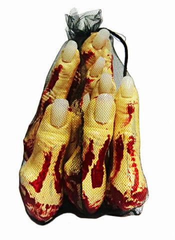 Netz mit abgetrennten Fingern