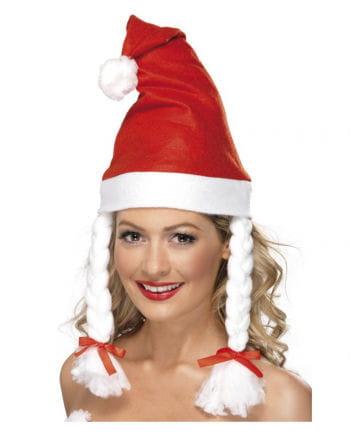 Santa Claus hat with braids