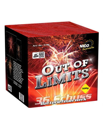 Out of Limits Battery Fireworks 36 Shot