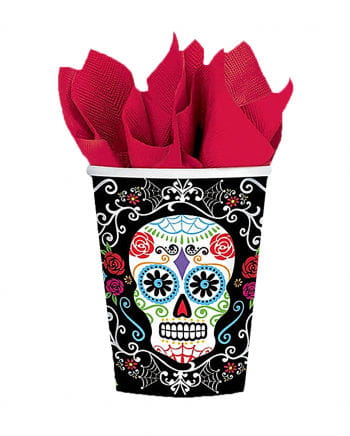 Paper Cup Dia De Los Muertos 10 Pcs.