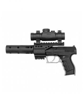 PB 001 Polizei SEK Pistole mit Schalldämpfer & Zielfernrohr
