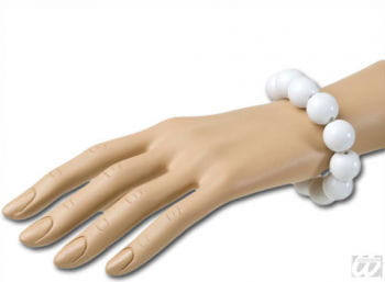 Perlenarmband Weiss