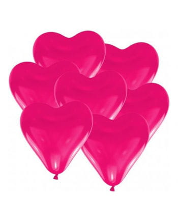 Pinke Herzluftballons 10 Stück