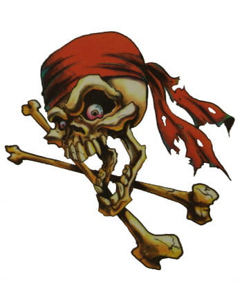 Piraten Tattoo Rotes Bandana