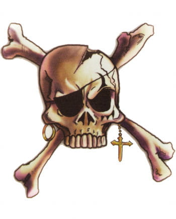 Pirate Tattoo Skull and Bones with cross