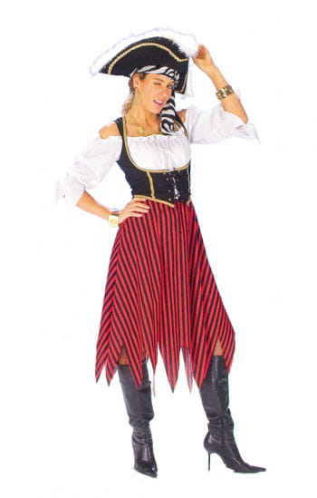Piratenrock mit Streifen