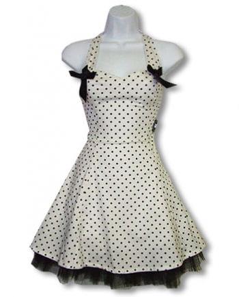 Polka dot dress and white S / 36
