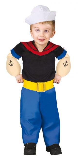 Original Popeye Kleinkinder Kostüm
