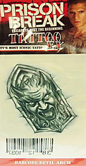 Prison Break Tattoo Teufel mit Barcode