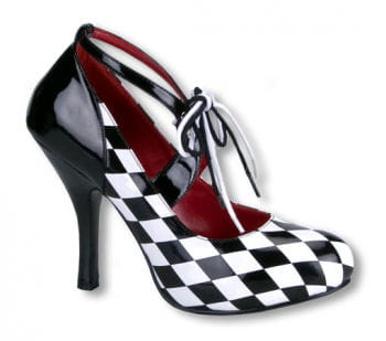 Harlekin Pumps kariert 38 UK 7 US 9