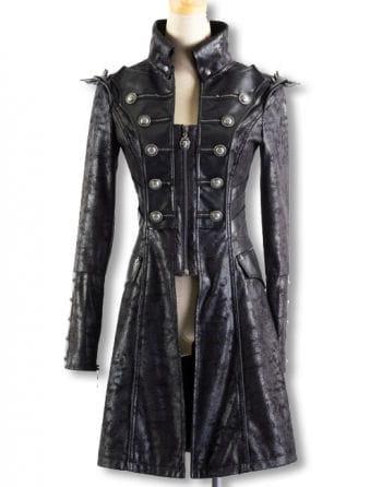 Punk coat in snake leather optic