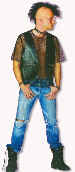 Punk Waistcoat Black XL
