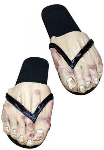 Rancid Men feet as Badelatschten