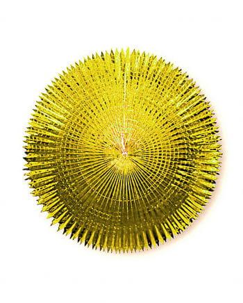 Faltfächer Metallfolie Gold 120 cm
