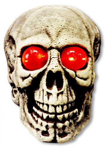 Giant Skull with Glowing Red Eyes