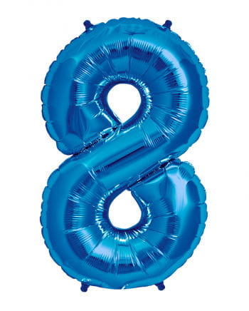 Foil Balloon Number 8 Blue