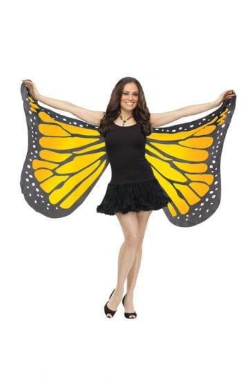 Riesige Schmetterlingsflügel gelb