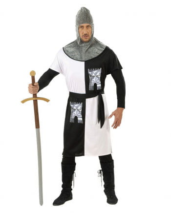 Knight costume white / black Gr. L