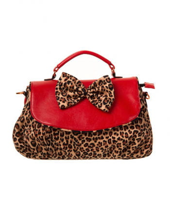 Rockabilly Handtasche mit Leopardenmuster