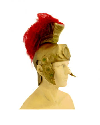 Roman helmet with feathers