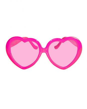 Rosa Herz Brille