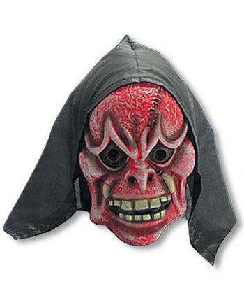 Rot weiße Dämonen Maske