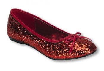 Red Glitter Ballerinas