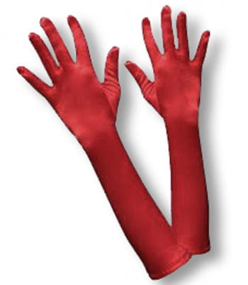 Satin Gloves Red